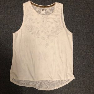 Self esteem paisley burnout tank xl